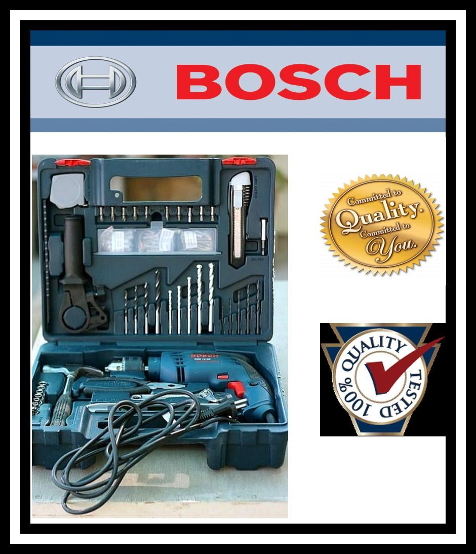 bosch smart tool kit 13mm 600w impact drill machine gsb. Black Bedroom Furniture Sets. Home Design Ideas