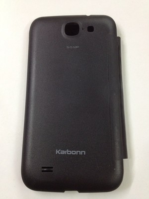 KARBON KARBONN A25 A 25  FLIP COVER CASE DIARY CASE BATTERY DETACHABLE BLACK