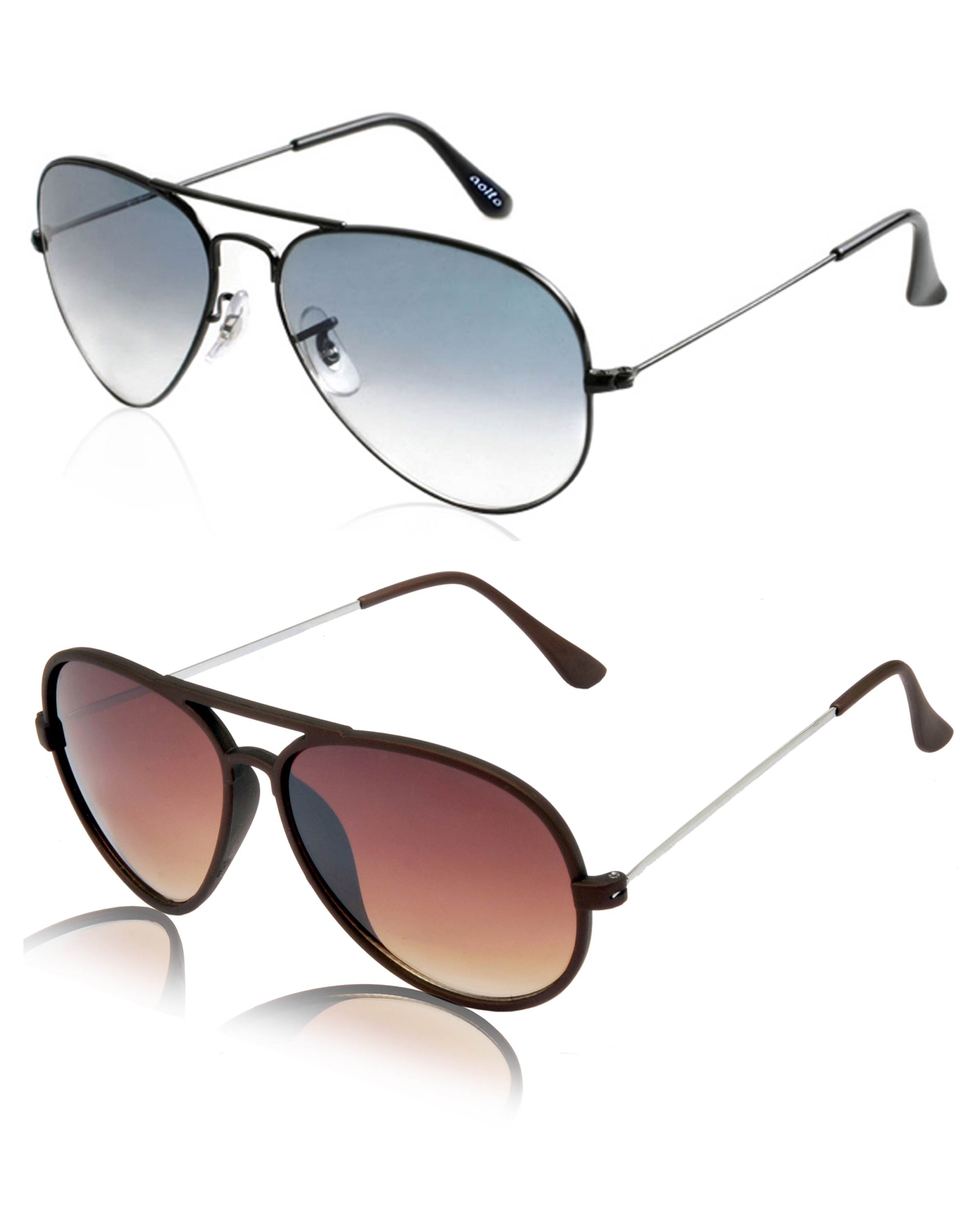 Aoito Classy Aviator Sunglasses & Aoito Stylish Brown Aviator Sunglasses.
