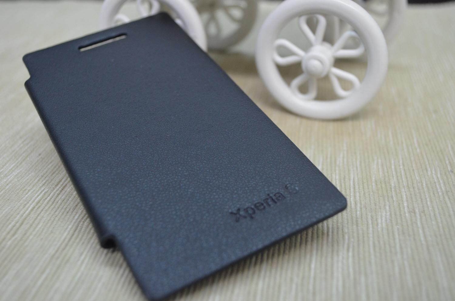 sony xperia L flip cover black