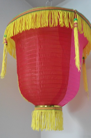 multicolor cloth lantern 12 inch pack of 5