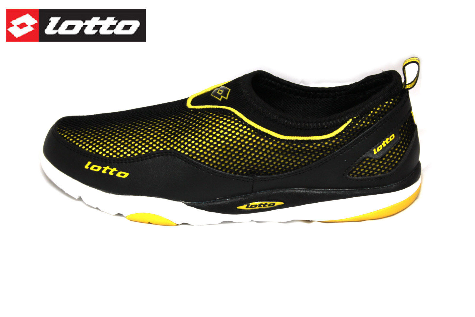 Lotto Buruno Black And Yellow Men Sports Shoes Loafers ...