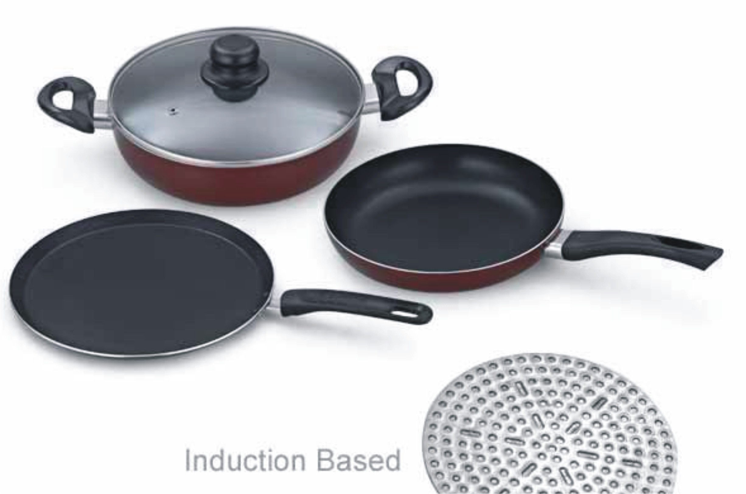 padmini essentia cookplus induction and gas stove cookware. Black Bedroom Furniture Sets. Home Design Ideas