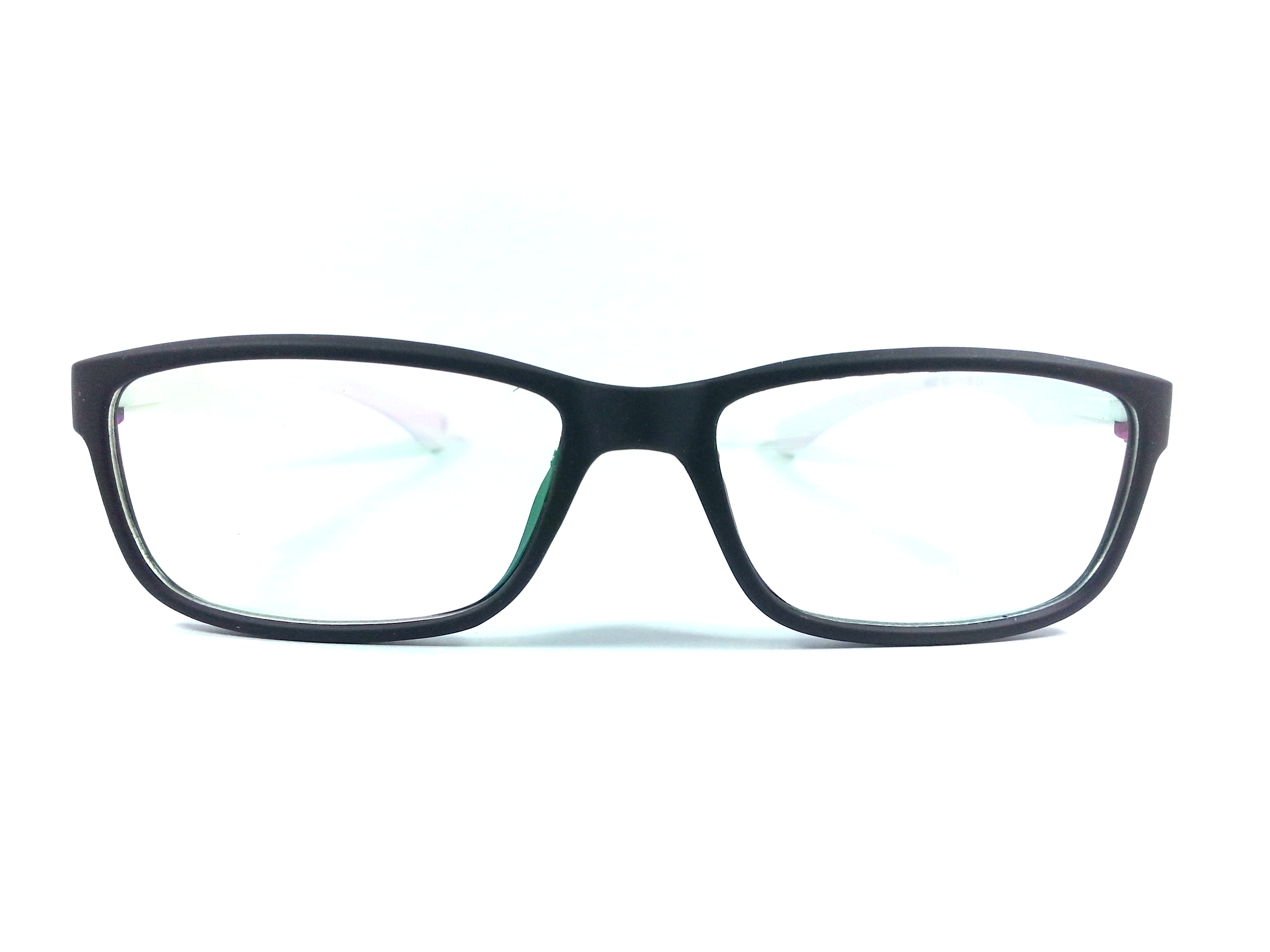 spectacle frames matte finish unbreakable black with white ...
