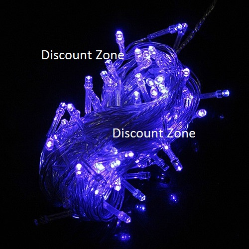 NRH Categories :: Home & Kitchen :: Home Decor :: 50 LED - BLUE String Fairy Diwali Lights ...