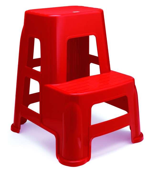 Nilkamal Stool Stl21 Bright Red In India Shopclues Online