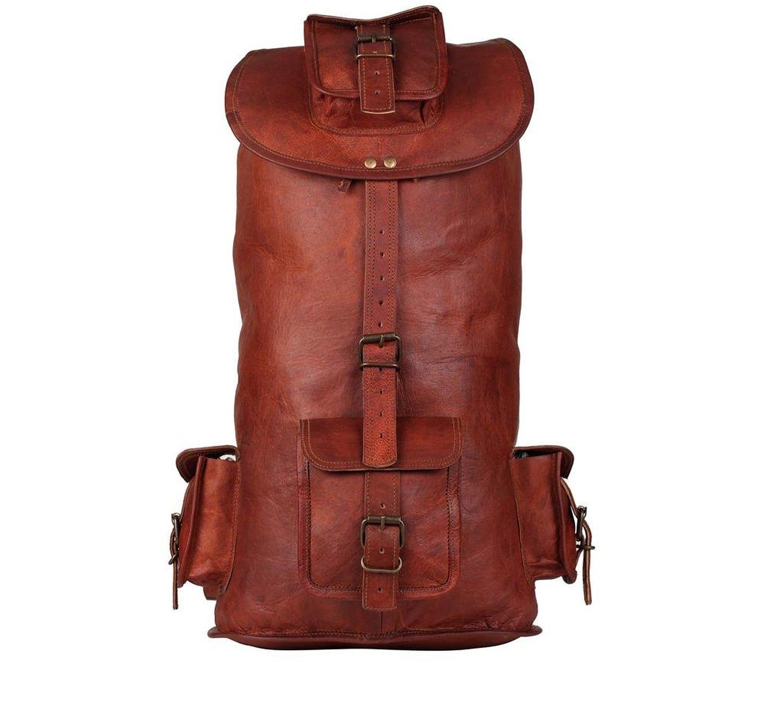 Aarya CraftAndArts Mens Leather Backpack 21