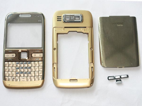 Replacement Fascia Faceplate Panel Housing For Nokia E72 Bronze