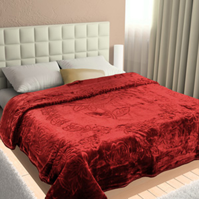 super warm single bed pearl blanket for winter - maroonWarm Blanket For Winter