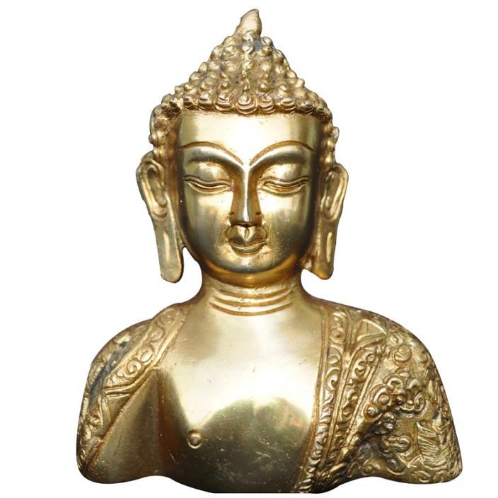 Gautam Buddha Statue in Water Aakrati Gautam Buddha Bust Statue of Brass