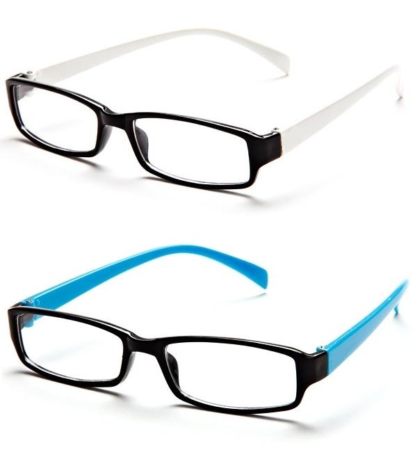 unisex eyeglasses rectangle frame buy one get