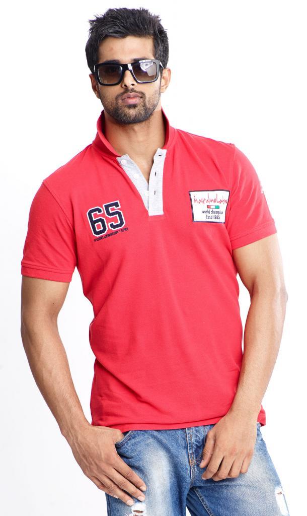 Masculino Latino Red Fashion Polo-shirt (MLP104A
