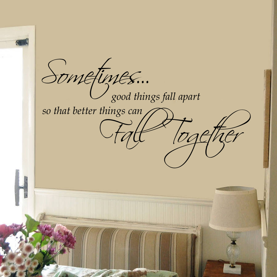 online decor kafe sometimes good things fall together wall decal small prices shopclues india. Black Bedroom Furniture Sets. Home Design Ideas