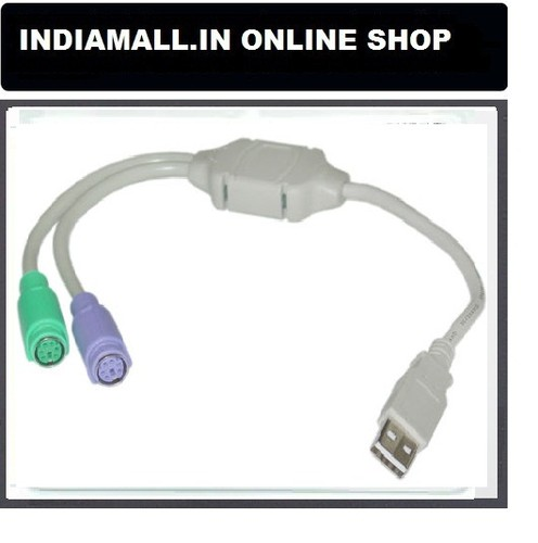 Usb To Ps2 Cable Adapter Plug And Play For Both Key Board And Mouse