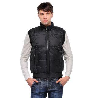 WOW Men's Black Sleeveless Jacket