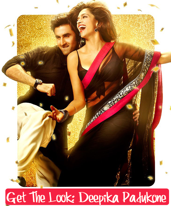 Black and Pink Deepika padukone YJHD saree