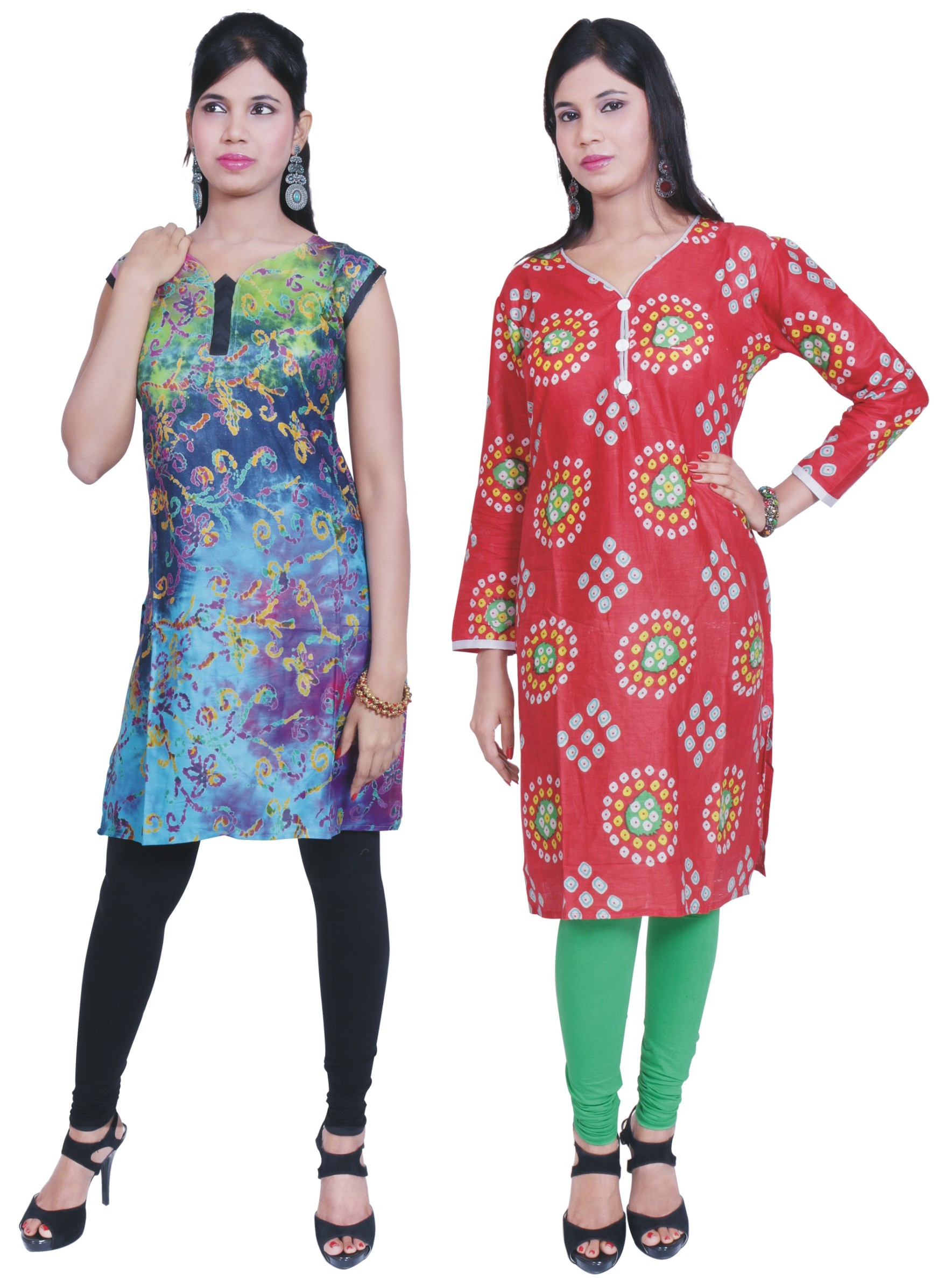 Combo Offer - 2 Girls Kurti + 2 legging Free