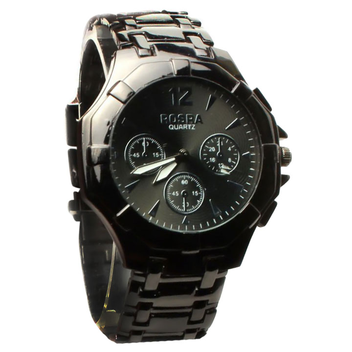 Online stylish rosra men 39 s analog watch concered black prices shopclues india for Rosra watches