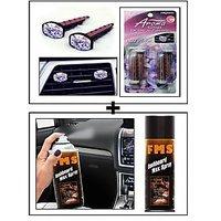 Vheelocity Aromate Aroma Clip Unique Car Perfume + Fms Car Dashboard Wax Spray 450Ml