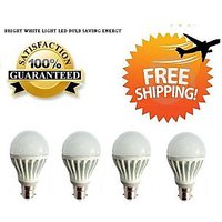 LED BULB 5W BRIGHT WHITE LIGHT LED BULB SAVING ENERGY Set OF 4 Pcs
