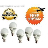 LED BULB 5W BRIGHT WHITE LIGHT LED BULB SAVING ENERGY Set OF 5 Pcs