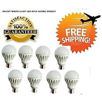 LED BULB 5W BRIGHT WHITE LIGHT LED BULB SAVING ENERGY Set OF 8 Pcs
