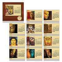 Buddha Calendar Cum Photo Frame With Clock