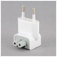 EU Standard AC Power Adapter Plug For Apple MAC Laptop White.