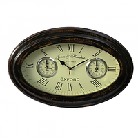 Nauticalmart Wooden And Glass Oval Shaped Wall Clock