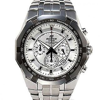 IMPORTED CASIO EDIFICE EF 540D 7AVDF WHITE CHRONOGRAPH MENS WRIST WATCH GIFT