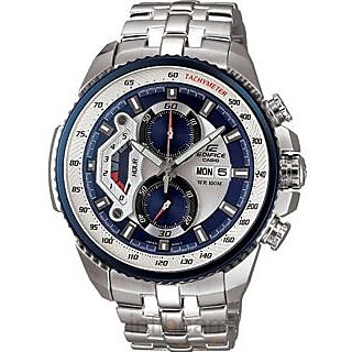 CASIO EDIFICE EF 558D 2AVDF SPORTY CHRONOGRAPH MENS DAY DATE WRIST WATCH GIFT