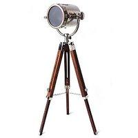 Nautical Chrome Spot Floor Lamp Searchlight Tripod