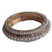 Indianpasand Beautiful Pearls & CZ Stone Bracelet (BRCZ08)