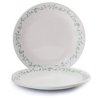 Corelle Plates - Quarter Plates Set / Quarter Plates - White Color - 8 Pcs