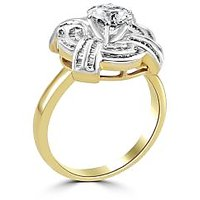 Fiona Moissanite 60 Pointer Gold Engagement Ring With Diamonds