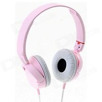 New Sony MDR - ZX100 Monitor Stereo Headset Headphone - Pink White