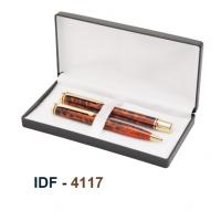 NI-4117 Metal Pen Set Of 2Pc Red & Gold Finish
