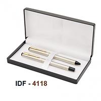 NI-4118 Silver Finsh Metal Pen Set Of 2Pc
