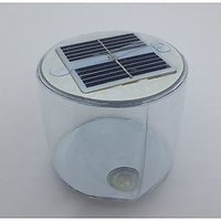 Portable Round-shaped Waterproof Solar Power Inflatable 3-mode LED Lantern Light