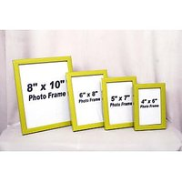 Wooden Photo Frame  Collage Type With Colour Green
