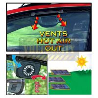 Auto Cool Ventilation Car Fan Solar Powered Exhaust System