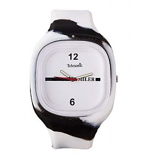 Telesonic Kids Miler Series Sports Watch-TMPK-02 (Black & White)