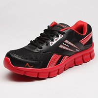 Playback Men's Black & Red Synthetic Sports Shoes