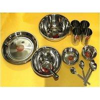 Stainless Steel Dinner Set Of 24 Pcs