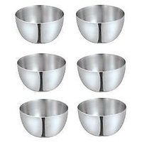 King-international -stainless Steel Apple Bowls Set Of 6 Pcs