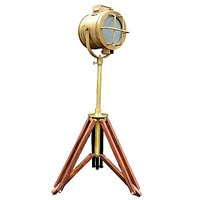 Royal Antique Mini Spotlight Corner Focus Lamp Tripod Decor