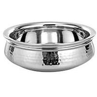 Stainless Steel Serving Handi   With Diamention 13 Cm