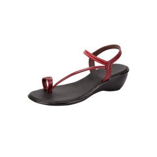 Awssm Fashion Mid Wedge Sandal 2621_Awssm_Maroon