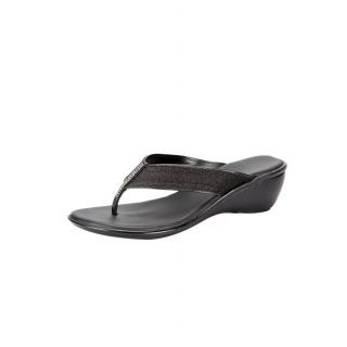 Awssm Fashion Mid Wedge Slipper 6426_Awssm_Black