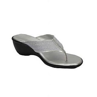 Awssm Fashion Mid Wedge Slipper 6426_Awssm_Silver